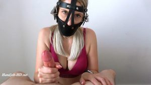 Mistress With Huge Tits And Mask Gives Edging Femdom Handjob With Cumshot – BexxyLynch