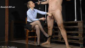 Tied slave's milking – Cruel Handjobs – Mistress Clarissa
