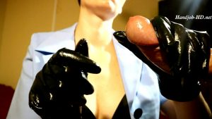 Next one, handjobs in black nurse glove – HJ Goddess TEASE