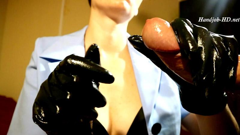 Next one, handjobs in black nurse glove - HJ Goddess TEASE