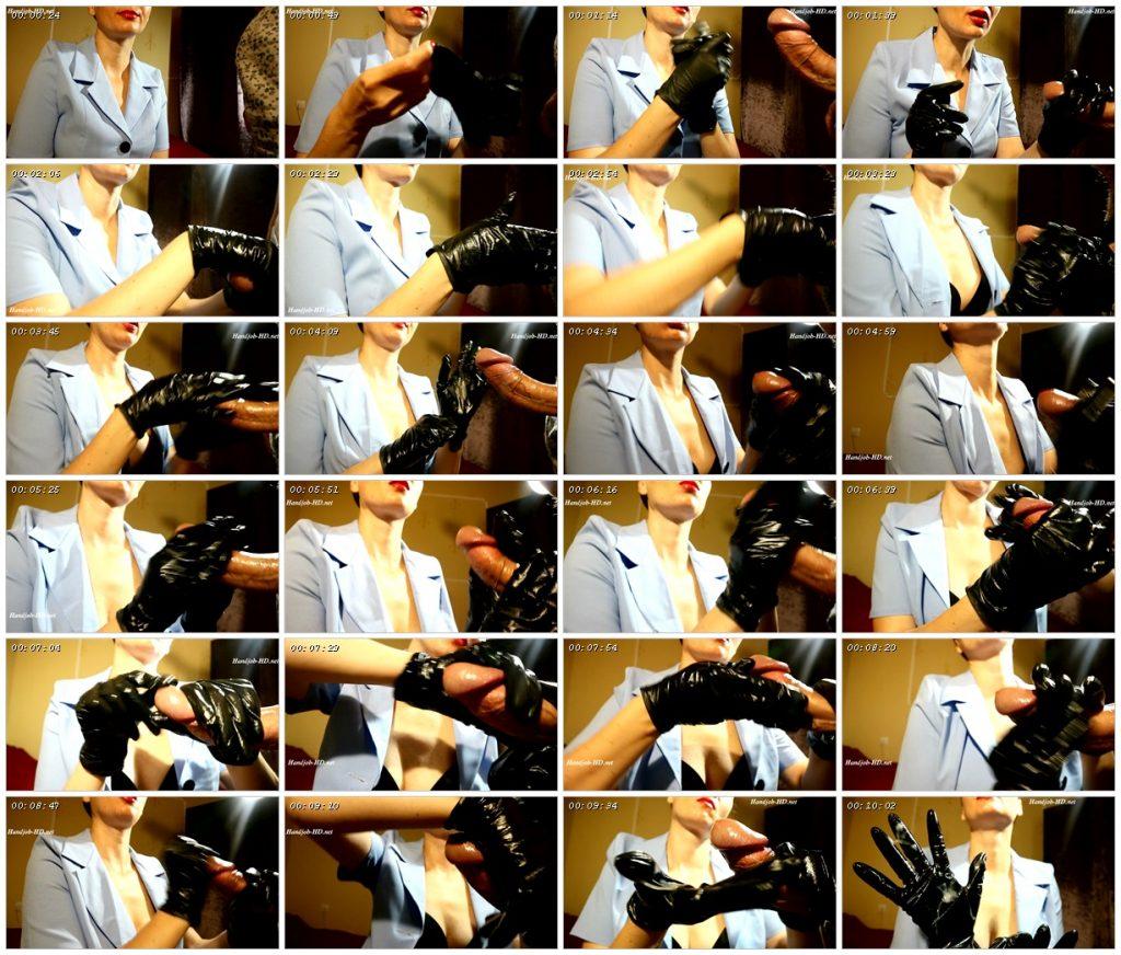 Next one, handjobs in black nurse glove - HJ Goddess TEASE_scrlist