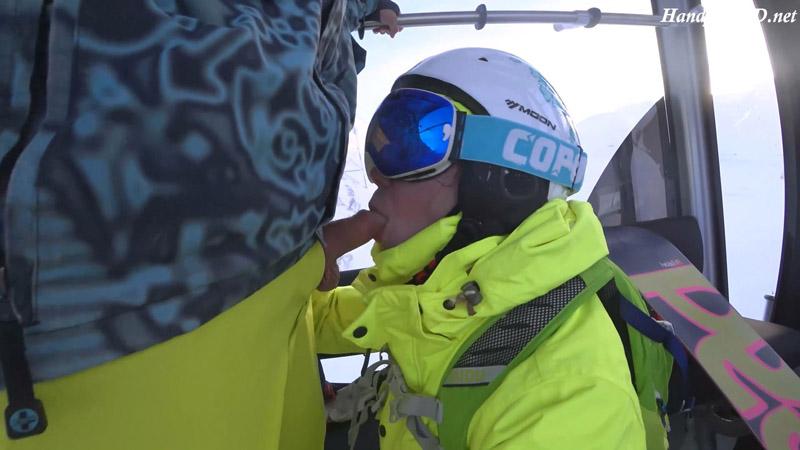 Blowjob i ski