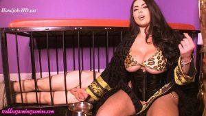 Premature Ejaculating CEI cage Pet ! – Goddess Jasmine Mendez