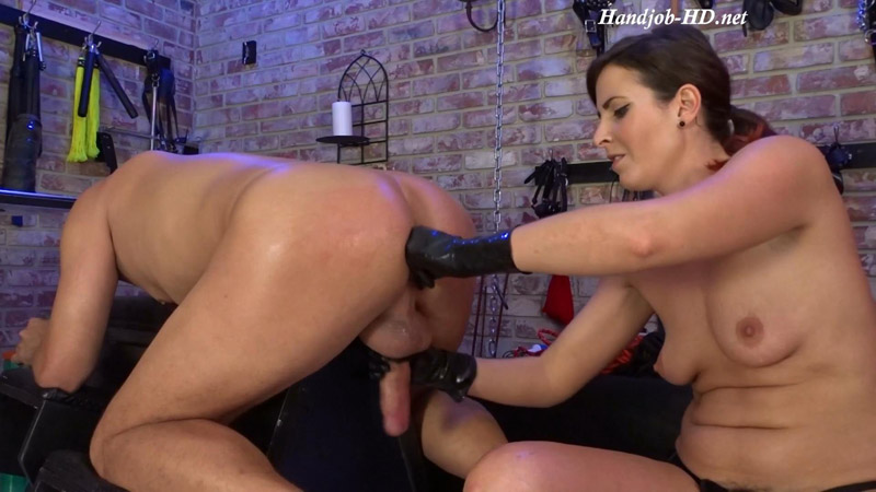 Slave Fucking #3 Milking His Cock – Helenas Cock Quest