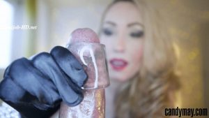 Black Candy: Black gloves Handjob – Candy May