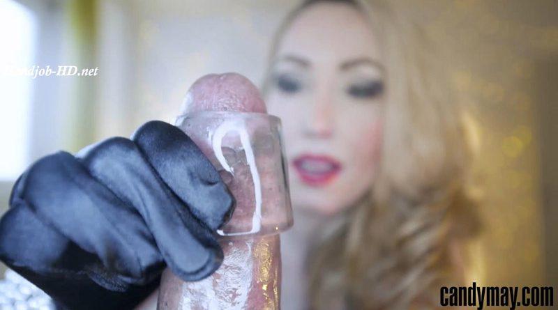 Black Candy Black gloves Handjob – Candy May