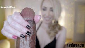 Black nails Handjob – Candy May