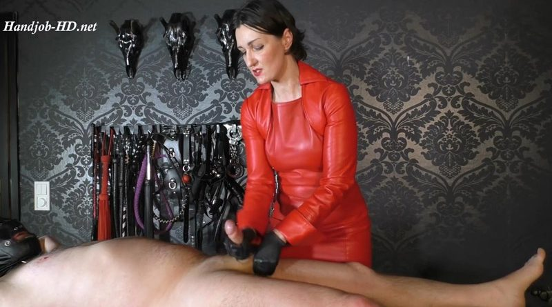 Dominant handjob with action wanking and forced orgasm – Lady Victoria Valente