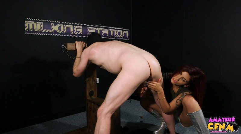 Milking Station – Amateur CFNM – Amina Danger
