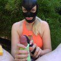 Vibrator Sponge Handjob in Public – Scarlett Winter