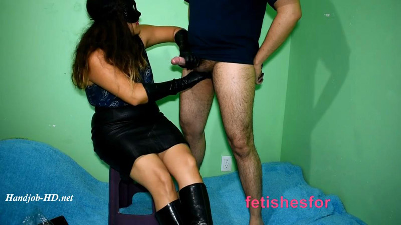 Handjob With Cum In Leather Boots With Leather Gloves By Fetishwife – FetishesFor