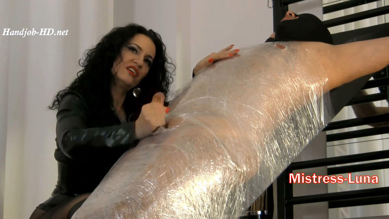 Milking My mummified slave - Mistress Luna