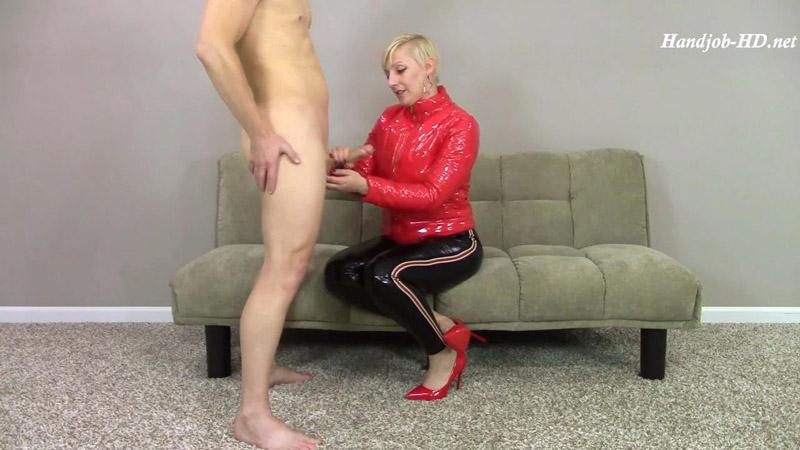 PVC Creaks 2 Cum on Jacket Pants & Chin – Brittany Lynn