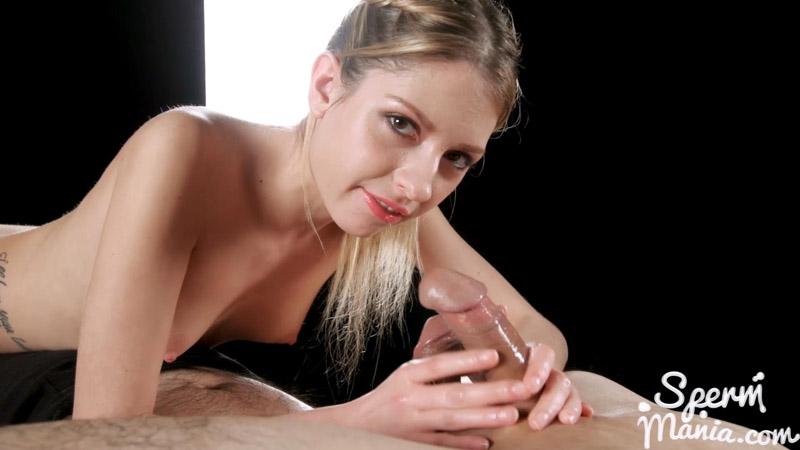 Rebecca Volpetti's Cummy Handjob - Sperm Mania