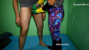 Rubber Gloves Handjob, Facesitting Rubber Boots & Yoga Pants, Cum Explosion – FetishesFor