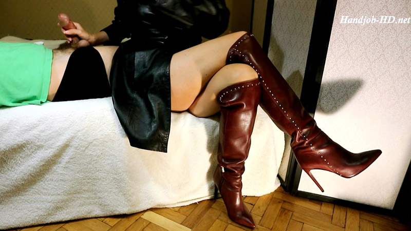 Toe tapping in boots, handjobs - HJ Goddess TEASE