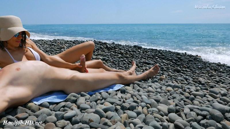 Young Stranger Made Hot Handjob On A Wild Nude Beach, Public Dick Massage – Veronika Charm