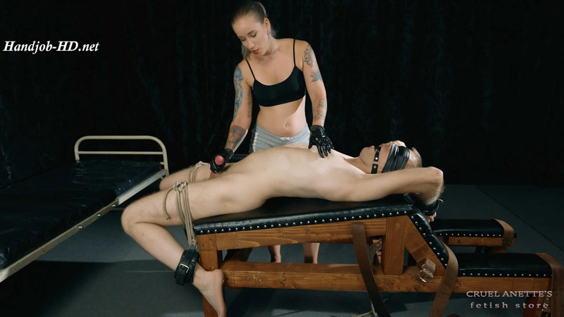 Bound handjob and tickling - Cruel Anettes Fetish Store