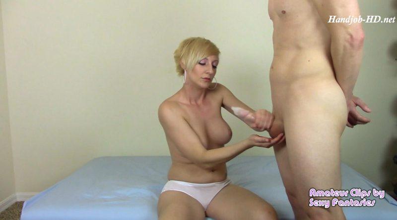 Cuckolding Wife Condom Handjob – Brittany Lynn