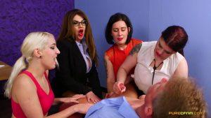 Horny Consultant – Pure CFNM – Belle O'Hara, Bluebell, Liz Rainbow, Lucia Love