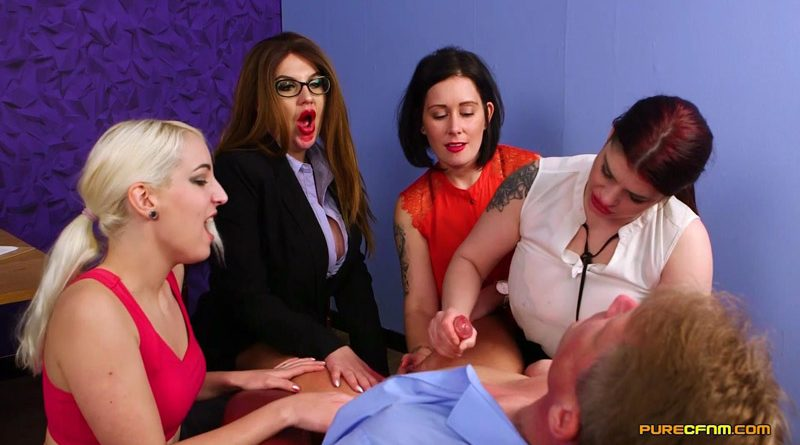 Horny Consultant – Pure CFNM – Belle O'Hara, Bluebell, Liz Rainbow, Lucia Love