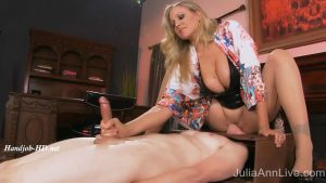 Hot Blonde Julia Ann Love To Torture Her Boy Toy!