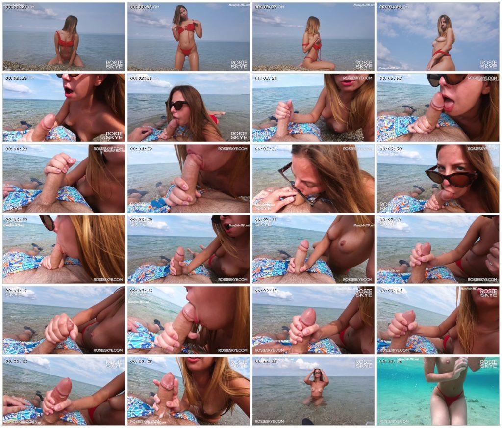Sweet Brunette With Big Ass Sucks On The Public Beach – Amateur Rosie Skye_scrlist