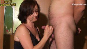 319 – 2 cumshots on my breast and face – Maya's Handjobs