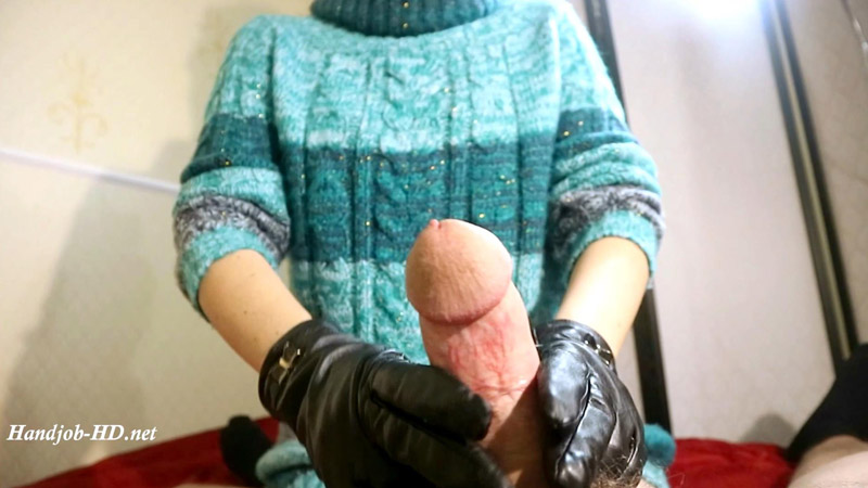 HJ New green holiday sweater, leather glove - HJ Goddess TEASE