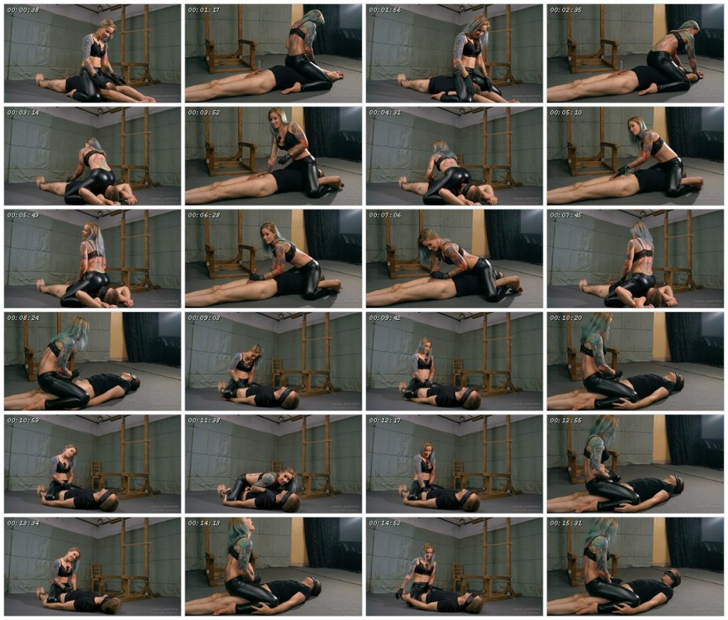 Handjob while on his head - Cruel Anettes Fetish Store_scrlist