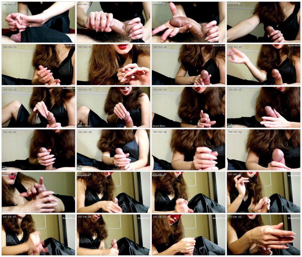 Handjobs by clear oval long nails - HJ Goddess TEASE_scrlist