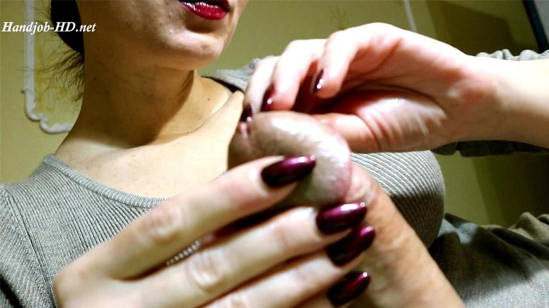 Handjobs with oval bardo nails - HJ Goddess TEASE