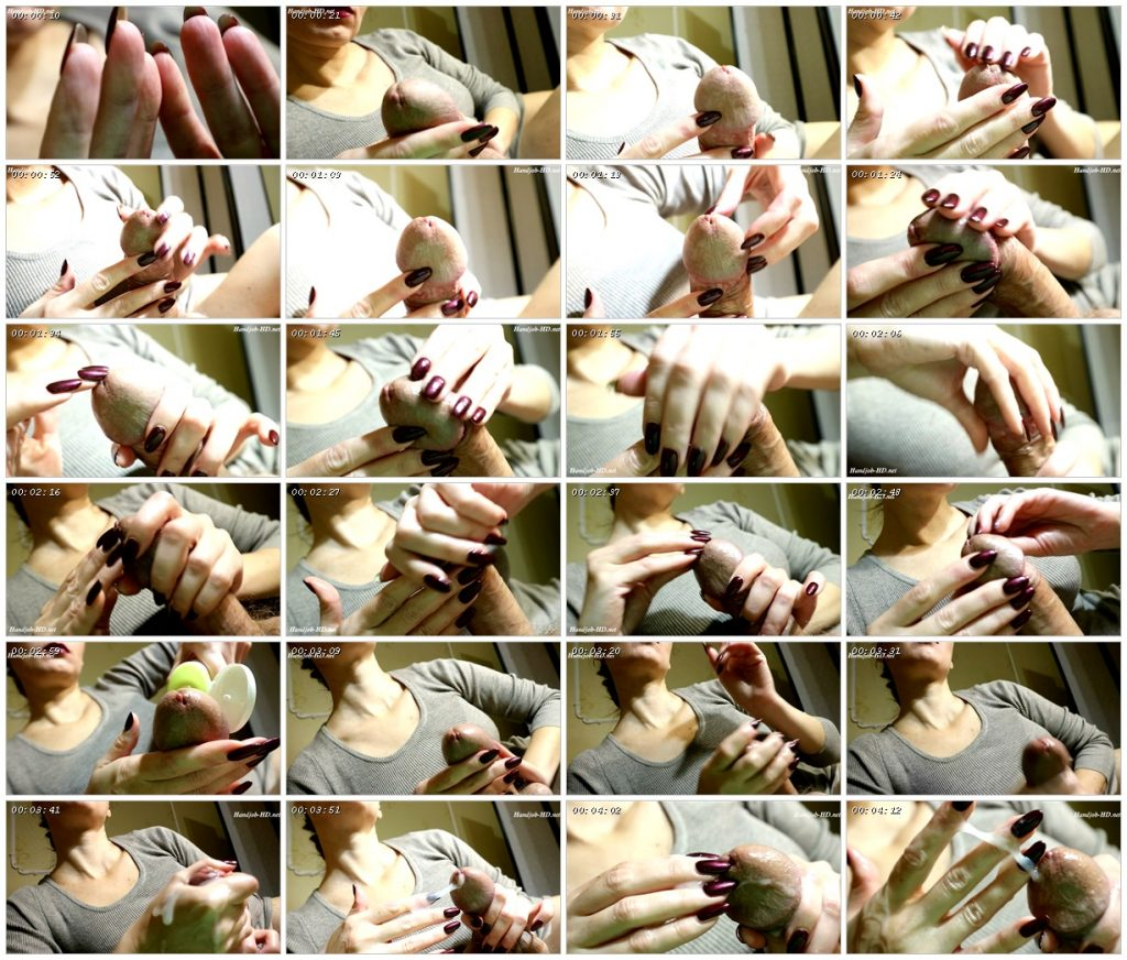 Handjobs with oval bardo nails - HJ Goddess TEASE_scrlist