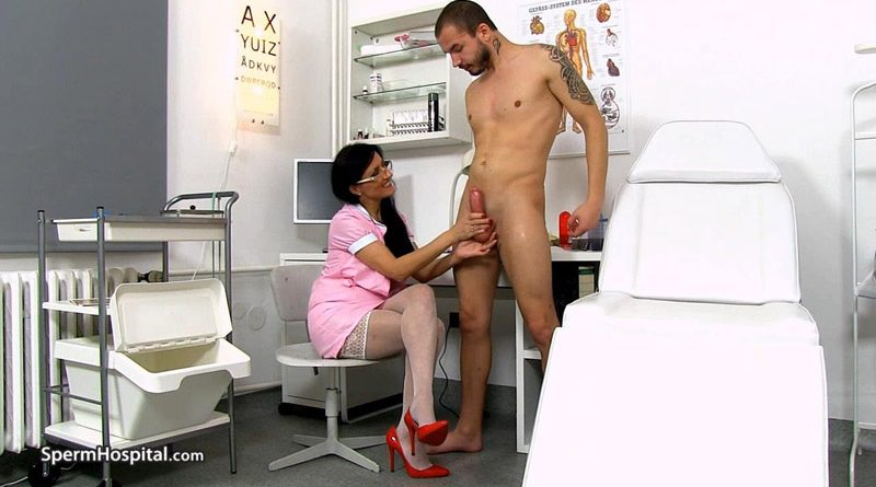 Awesome uniform milf Marta old young hand-job – Sperm Hospital