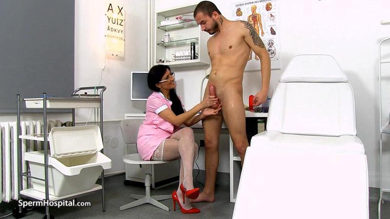 Awesome uniform milf Marta old young hand-job – Sperm Hospital