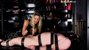 Ballbusted slave made to eat his painfully ruined orgasm WL1475 – Mistress Nikki Whiplash