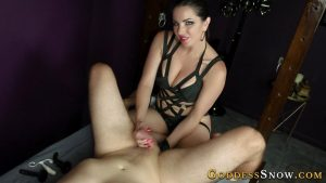 Prostate Teased Puddle – Goddess Alexandra Snow