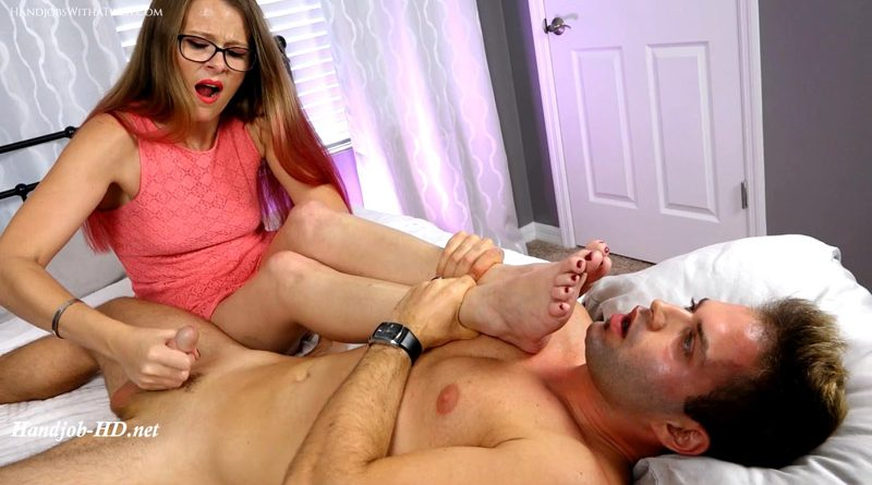 Foot Worship and Rapid Jerking – SilverCherrys Handjobs With a Twist – Kitty Quinn