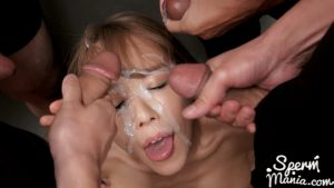 Nanako Nanahara's Sticky Bukkake Facial – Sperm Mania