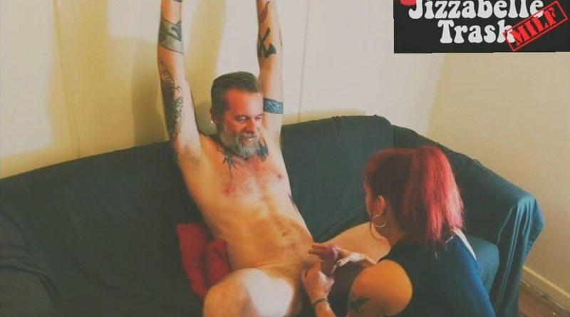 Housewifes Revenge Huge Cock Ball Squeezing Bondage Handjob CBT + Facial – Jizzabelle Trash