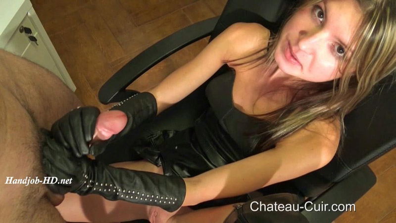 Young Leather Slut - Kinky Leather Clips - Gina Gerson