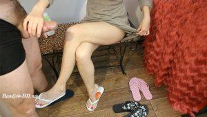 Cum for my flips flops, handjobs – HJ Goddess TEASE