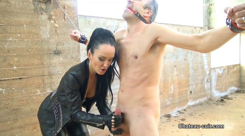 Forced Leather Gloved Milking – Kinky Leather Clips