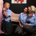 Illegal Erection – Pure CFNM – Amber Deen, Charlie Monaco, Maya Luna