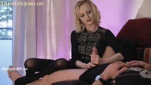 Mistress over Teased HandJob _Huge Cumshot – I JERK OFF 100 Strangers hommme HJ