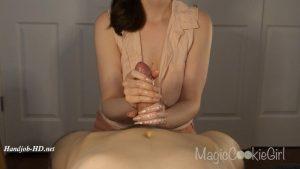 POV satin nails sensual handjob – MagicCookieGirl
