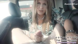 Stepmom diapers and jerks you off on a family road trip, Step-Dad unaware – Domination For Your Own Good