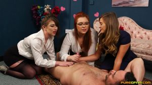 Valentine's Surprise – Pure CFNM – Honour May, Mandy Foxxx, Roxy Roxanne