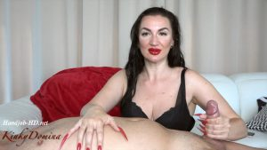 KinkyDomina Strawberry Nails Hot Handjob – KinkyDomina Long Sharp Fingernails