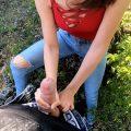 Outdoor Handjob and Blowjob – Sassymehh